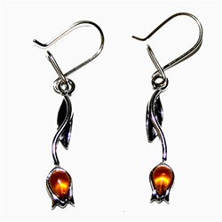 Tulip Honey Amber Earrings