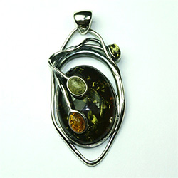 Forest Treasure Amber Pendant