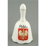 The perfect dinner bell for ringing in those Polish feasts.  Gold trimmed porcelain bell featuring the emblem of Poland the crowned Polish eagle.