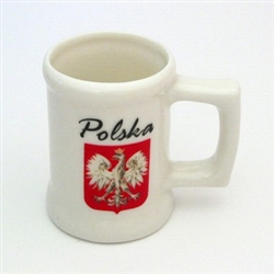 Mini Porcelain Mug - Polska Godla - Polish Eagle Emblem