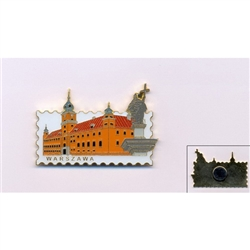The King's Palace In Warsaw Postage Stamp Style Magnet