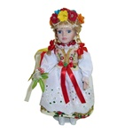 With porcelain head, arms & legs, and hand made authentic dress, this is a beautiful doll! Please note that dress materials are unique and vary from doll to doll so no two are exactly alike. Stand included.