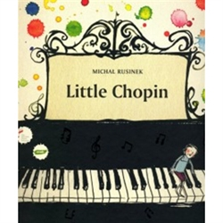 This new Chopin rhymed publication on the Polish market, written by Michal Rusinek, is addressed to children. It tells the story of how Little Frycek became a great composer. The text was illustrated in a modern style by Joanna Rusinek.