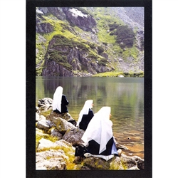 Meditation at Zielony Staw ( Green Lake) Note Card