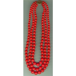 In the old days these red beads would have been made of real coral.  Today the Poles use a much less expensive substitute (polystyrene).  These are made in Krakow for the Krakowianka dance costume.
