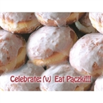 Paczki Note Card - Definition  What better way to elebrate than by eating Polish Paczki!  Blank inside so you may customize your message.  Use this for any occasion.  Includes blue envelope.  Includes a red envelope.
