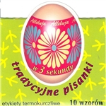 Polish Traditional Design Egg Sleeves - Set of 10 Create instant Polish designed Pisanka using these brightly-colored sleeves representing different Polish motifs. Each package contains 10 color sleeves