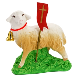 Lamb Standing - Baranek  The Easter table is not complete without the Easter lamb.  Ours are made of plaster and nicely detailed.  Below is an explanation of this Polish custom.