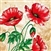 Beautiful Poppy Luncheon Napkins.  Three ply napkins with water based paints used in the printing process.