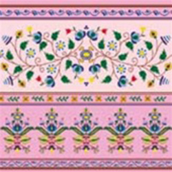Polish Floral Folk Motif Dinner Napkins (package of 20) - Pink.  Three ply napkins with water based paints used in the printing process.