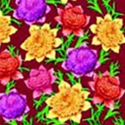 Delightful Dahlia Dinner Napkins (package of 20) - Burgundy.  Three ply napkins with water based paints used in the printing process.