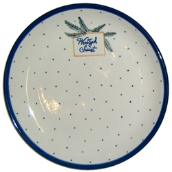 "We special ordered these beautiful dessert plates for your Polish Christmas holiday table.  Each plate features the traditional Polish holiday greeting ""Wesolych Swiat""(Happy Holidays).  Perfect for setting your Christmas Eve Wigilia dinner.  Hand made in"