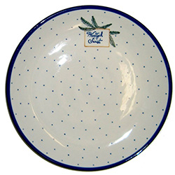 "We special ordered these beautiful dinner plates for your Polish Christmas holiday table.  Each plate features the traditional Polish holiday greeting ""Wesolych Swiat""(Happy Holidays).  Perfect for setting your Christmas Eve Wigilia dinner.  Hand made in"