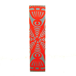 This is a Kurpie style wycinanka printed on a bookmark featuring a Baba design (Grandma) on each end.