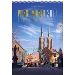 This beautiful wall calendar features 12 scenes from Polish towns and cities.