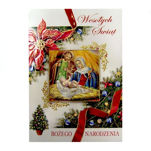 Assorted Polish Religious Christmas Cards 10 Pack