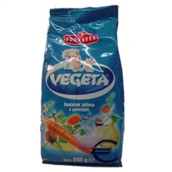 Vegeta is the absolute market authority in universal food seasonings. It is a combination of vegetables and seasoning herbs and is a must have product! Podravka, in search of a way to enhance and improve the aroma of a meal, created Vegeta in its research