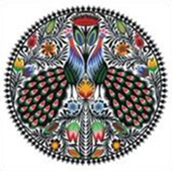 Wycinanki Folk Flexible Magnet - Peacocks