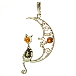 "Charming sterling silver pendant.  Size 2"" x 1"" - 5cm x 2.5cm"