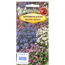 Forget-Me-Not Seed Mix, Myosotis alpestris, Imported from Poland. Eye-catching mixture with inflorescences in interesting colour range: blue, white and pink. Makes a great display on flowerbeds, borders and in containers.