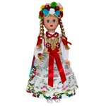 This doll, dressed in a handmade traditional Krakow wedding outfit, wonderfully crafted and fun to collect.  The detailed costume is hand made in Krakow.