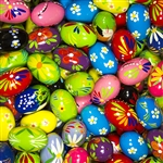 Hand painted wooden pastel Easter eggs from Poland with beautiful floral, animal and plant designs.  Polish pisanki are so colorful and the detail is amazing.  These eggs are solid and sturdy and will last for generations.