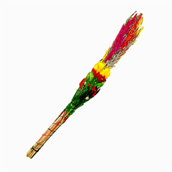 In Poland there are no palm trees so for Palm Sunday Poles make their own very colorful versions from dried flowers and colorful plants.  Display them all year round.