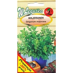 Marjoram is a seasoning and medical plant. Dried leaves are used for soups, meat dishes and sausages. It is also natural antioxidant, which preserves food. The infusion of Marjoram has alleviating influence during cold.