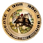 "The translation of ""Gosc W Dom Bog W Dom: is ""A Guest In The House Is God In The House"" . 