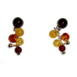 Stylish set of cluster earrings.