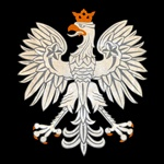 Our Polish Eagle features a gold crown, talons and beak on an elegant black background.