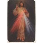 Two pictures appear when the card is moved.  The Divine Mercy picture of Christ as shown and a closeup of his head.