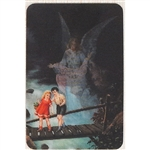 Two pictures appear when the card is moved:  The children's Guardian Angel appears, then disappears.