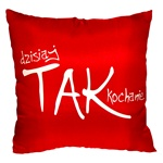 This cheeky stuffed pillow is made in Poland and features a front and back announcement for your main squeeze. 