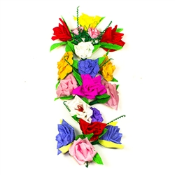 This beautiful ready to hang floral bouquet is made by the same artist who makes our pajaki.  This bouquet is made of colorful crepe paper and supporting wire.  Made entirely by hand.