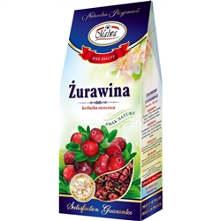 Another delightful and all-natural Polish tea made from the fruits of Cranberry (18%), Hibiscus Flower, Apple, Chokeberry, Rosehip, Red Currant, Elderberry, Flavor.