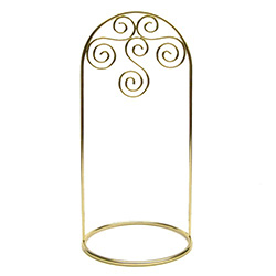 "Suitable for hanging ornaments up to 5"" - 12cm tall and up to 3.25"" - 8.5cm wide.  The holder itself is 7,75"" - 20cm tall."