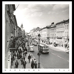 Nowy Swiat Street, 1964 Warsaw. Just as popular then as now, Nowy Swiat has always been a popular shopping district overflowing with pedestrian traffic. Historical Black and White Photo Postcard
