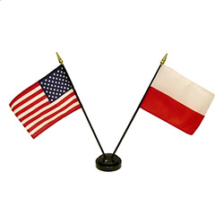 The flags of the U.S. and Poland (without the Eagle) are all parts of our cultural and religious heritage.
