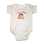 These darling onesie's come in 4 different sizes.  100% cotton.