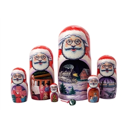 For diehard fans of one of America's favorite Christmas stories, Chris Van Allsburg's wonderful children's book, The Polar Express, we've created this deluxe version of our long-time favorite Polar Express nesting doll. This deluxe version is fully hand