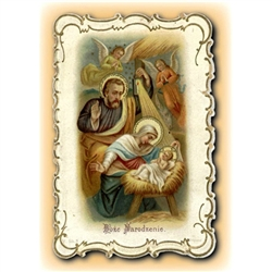 Pictured is a reproduction of an antique Polish holy card (c. 1920s).  It was given to Stella Dernoga by one of her favorite elementary school teachers, Sister Kinga, a Felician nun at the old Holy Rosary parish school in Baltimore, Maryland.