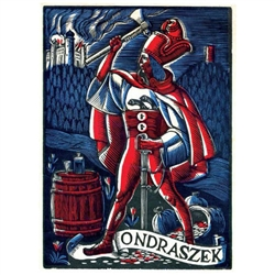 The subjects of these bold, energetic prints were the proud and fiercely independent mountain people attired in rich folk dress. Skoczylas engraved scenes of their unique customs, feats of daring, and legends of the fearless outlaw, Ondraszek.