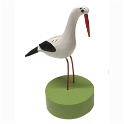 Storks migrate to Poland each spring and are a popular theme in Polish folk art.  We have an assortment of these hand carved and painted storks in a variety of poses.