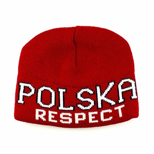 1a4a728b8553 Red And White Knit Polska Respect Skull Cap ... - Polish Art Center
