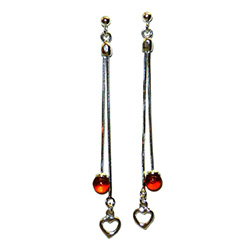 Lovely set of sterling silver dangling earrings.