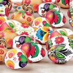 "Polish Folk Art Dinner Napkins (package of 20) - ""Lowiczanki Pisanki"" - Folk Easter Eggs.  Three ply napkins with water based paints used in the printing process."