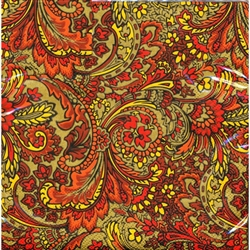 "Polish Folk Art Dinner Napkins (package of 20) - ""Paisley Wonder"".  Three ply napkins with water based paints used in the printing process."
