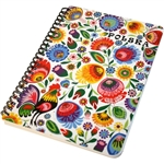 This beautiful notebook has 100 sheets.  The front side of each page is lined. The back side of each page is blank which is perfect for you to add pictures, scrapbook cut outs etc.  Ideal for use as a journal, school project display or general notebook.