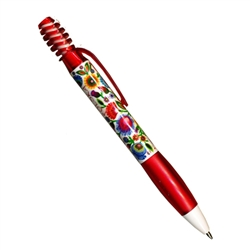 Enjoy this colorful Polish ball point pen!  Perfect for gifts.